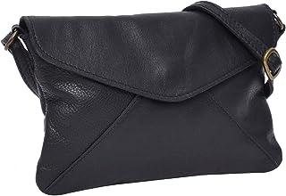 Gusti Umhängetasche Leder - Karisma Handtasche Ledertasche Vintage Schwarz Leder