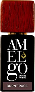 Oud Rose Perfume for Men - Long Lasting Arabian Perfume Spray with Real Oud Wood Oil and Roasted Rose Petals - Burnt Rose by Amelgo 15ml