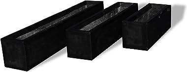 Amedeo Design ResinStone 2513-13B Modern Window Box, 48 by 8 by 8.5-Inch, Black
