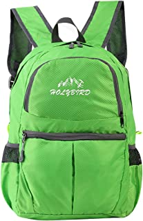 Foldable Lightweight Backpack Travel Casual Outdoor Bag Waterproof for Sport Travel Hiking School (Green)