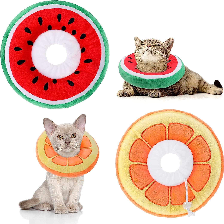 Frienda 2 Pieces Adjustable Cat Cone Collar Soft Cat Recovery Co