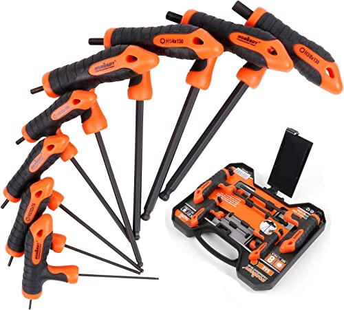"""wholesale HORUSDY online 8-Piece T-Handle allen wrench set, Inch Long Arm Ball End Hex Key lowest Wrench Set,SAE(5/64""""-3/8"""") online"""