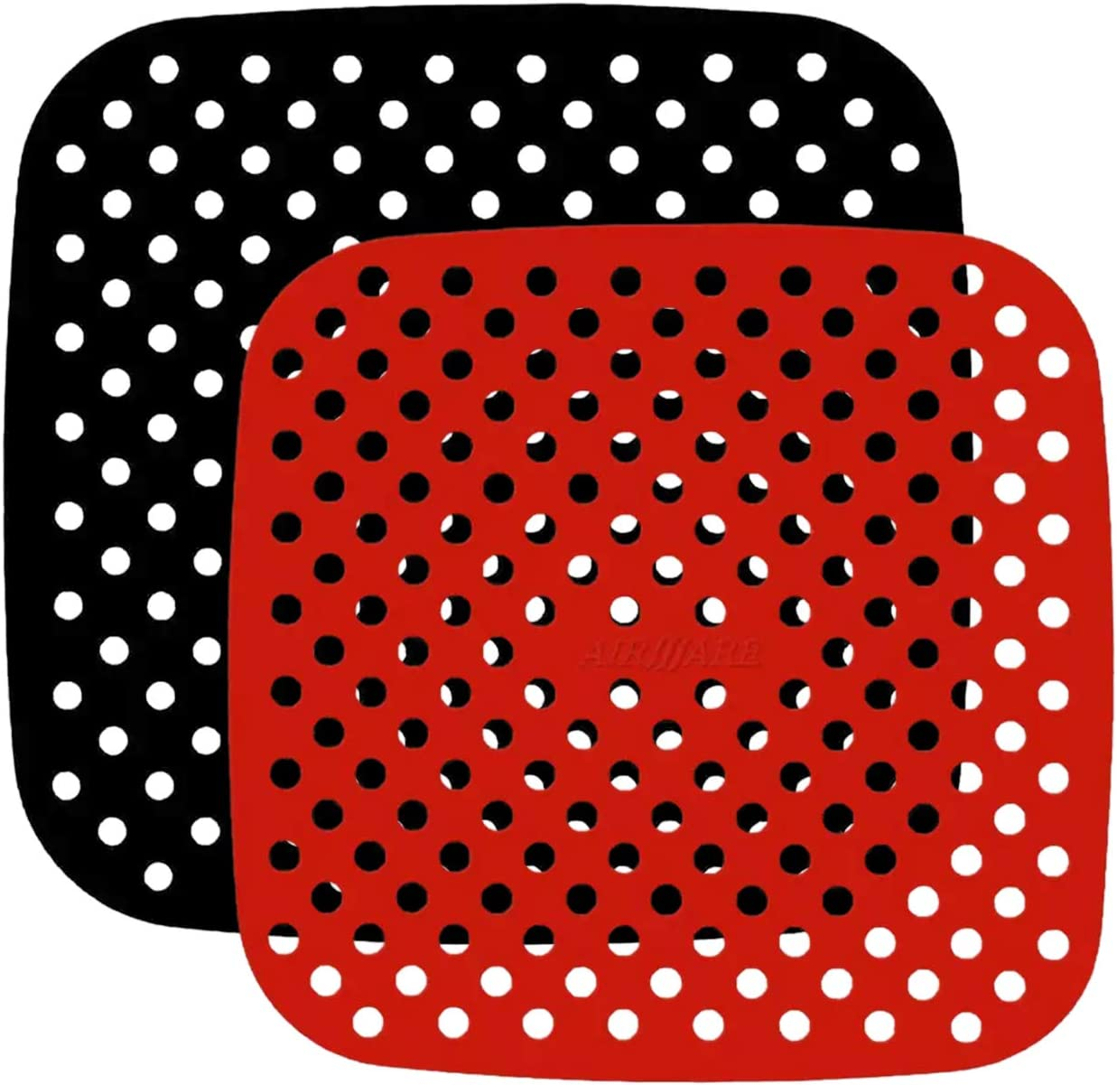 2 tamaños Almohadilla de freidora de aire, almohadillas de silicona, revestimientos reutilizables para freidora de aire para microondas, horno, bandeja para freidora de aire, cesta de vapor