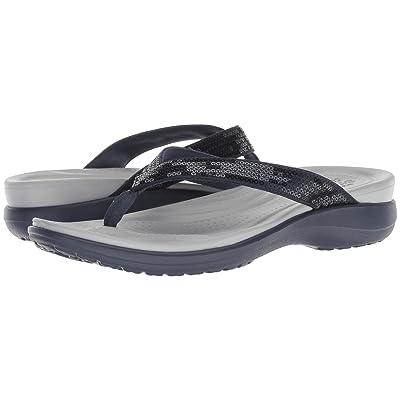 Crocs Capri V Sequin (Navy/Light Grey) Women