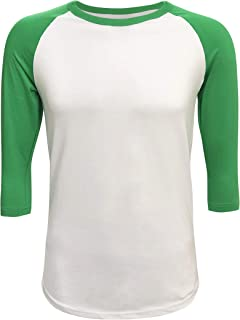 kelly green baseball shirt