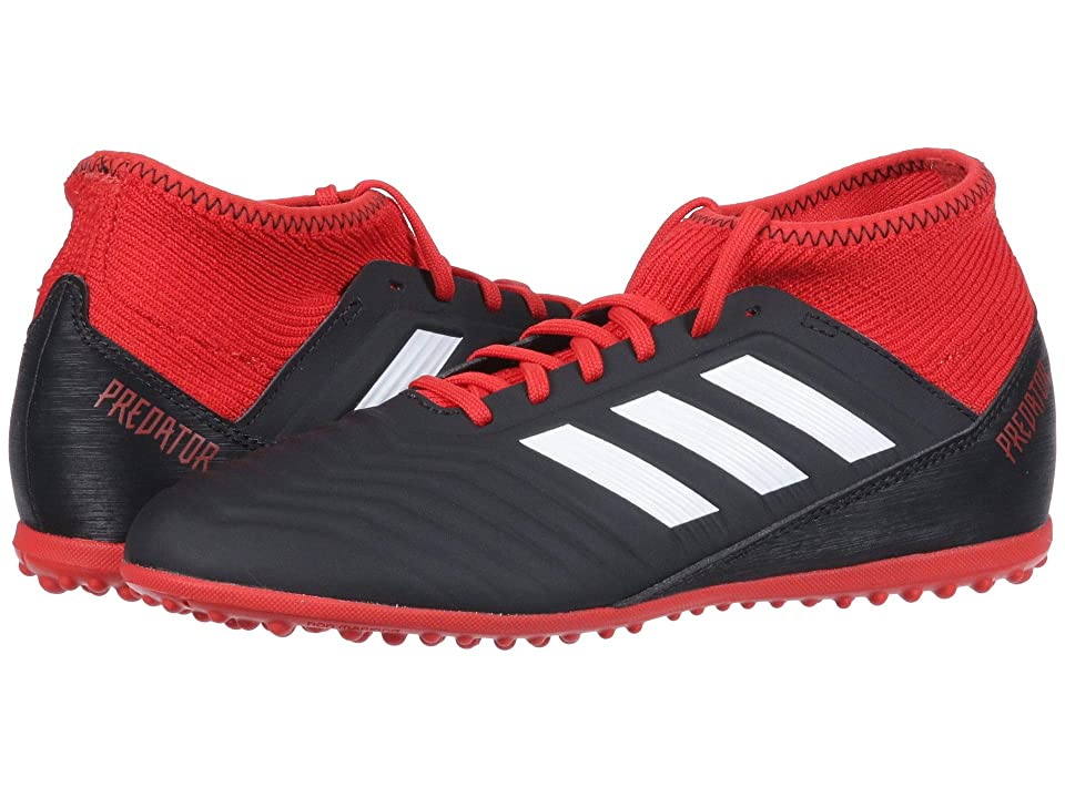 adidas Kids Predator Tango 18.3 TF Soccer (Little Kid/Big Kid) (Black/White/Red) Kids Shoes