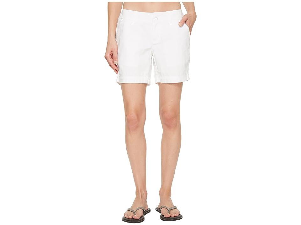 Columbia Compass Ridge Shorts 6 (White) Women