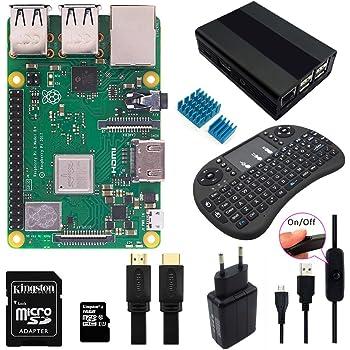 Raspberry Pi 3 B+ Starter Kit With Wireless Mini Keyboard ...