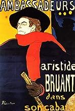 Henri De Toulouse-Lautrec Ambassadeurs Aristide Bruant in his Cabaret - 18
