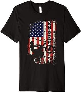 Braaap Vintage USA American Flag Gift For Men Women Premium T-Shirt