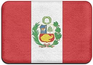 Flag Of Peru Doormat Anti-slip House Garden Gate Carpet Door Mat Floor Pads