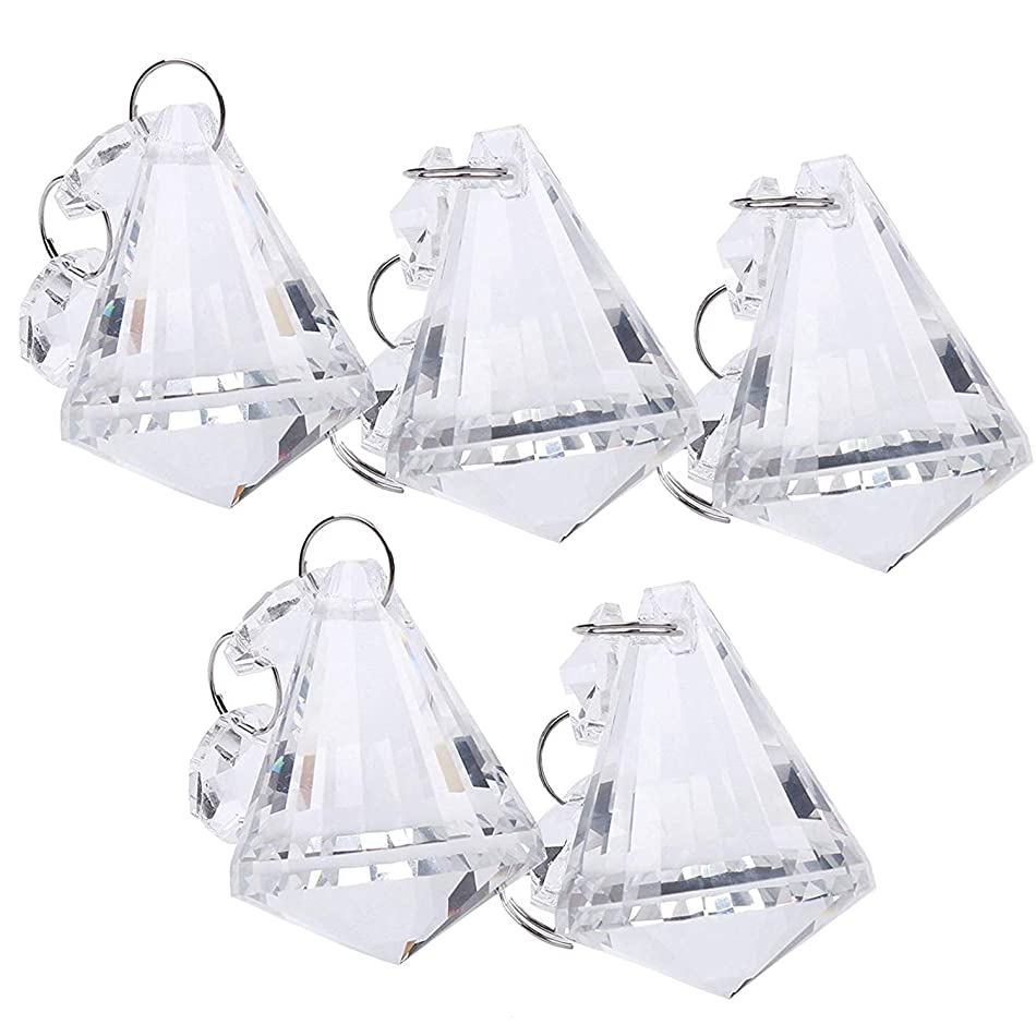 BIHRTC Pack of 5 Clear Crystal Chandelier Lamp Lighting Part Drops Pendants Balls Prisms Hanging Galss Crystal Pendant Home/House Decor b2158808996