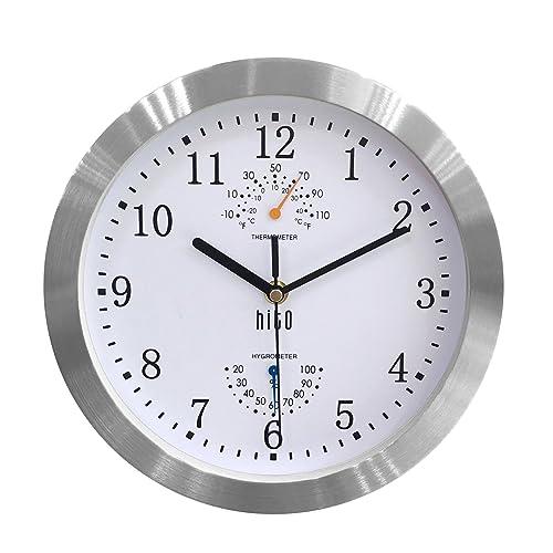 Silent Wall Clocks For Bathroom Amazon Com