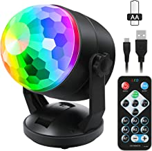 Portable Sound Activated Party Lights for Outdoor and Indoor, Battery Powered/USB Plug..