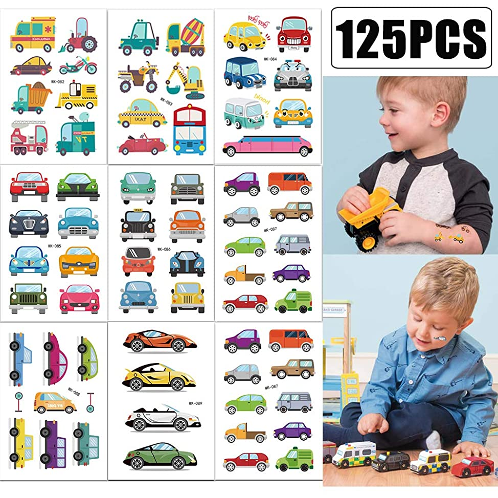 Constructions Cars Temporary Tattoos Party Favors for Kids Birthday Party Supplies Tattoos Stickers(20 sheets)