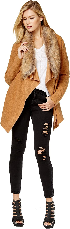 Bar III Women's Faux-Fur-Collar Cardigan