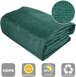 Shatex 90% Sun Shade Fabric for Pergola Cover Porch Vertical Screen 7.8' x 15', Dark Green
