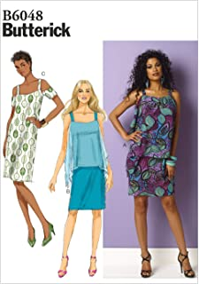 قالب خياطة فستان من Butterick Patterns B6048 Misses، مقاس F5 (16-18-20-22-24)