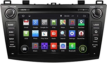 KUNFINE Android 8.0 Otca Core Car DVD GPS Navigation Multimedia Player Car Stereo for Mazda 3 2009 2010 2011 2012 2013 Steering Wheel Control 3G WiFi Bluetooth Free Map Update 8 Inch