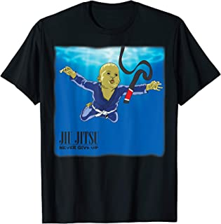 BJJ T-shirt - Never give up, you'll get BJJ black belt