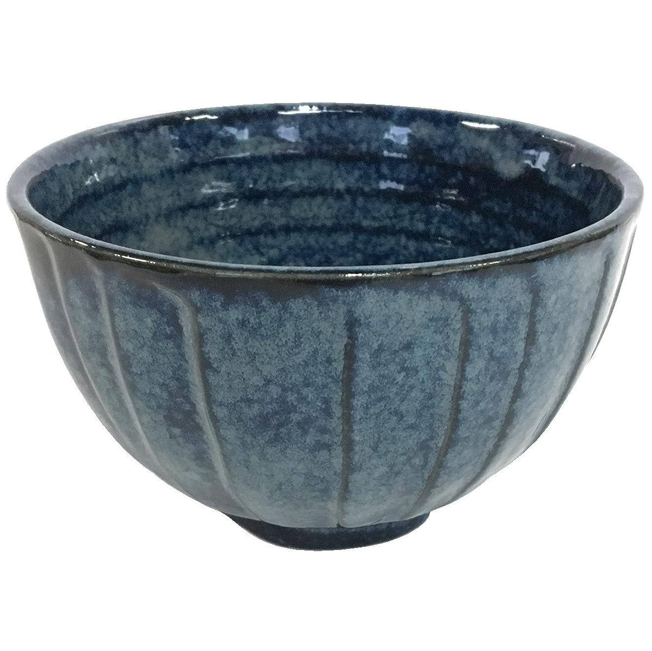 キラウエア山どこかバーターみのる陶器 けずり型多用丼 藍の雪 047-718703