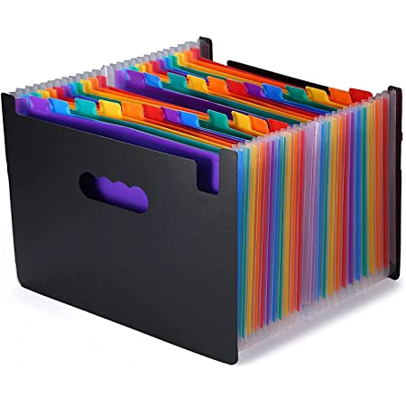 Document Stand, A4 Document Case, File Box, Freestanding Documents / Files Organizer, Storage with Index for Classification (24-A)