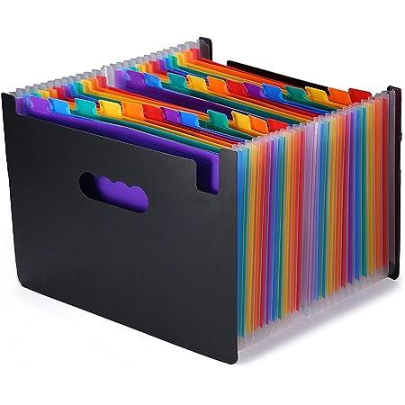 ドキュメントスタンド A4 書類ケース ファイルボックス自立型 書類/ファイル 整理 収納 分類用インデックス付 (24-A)