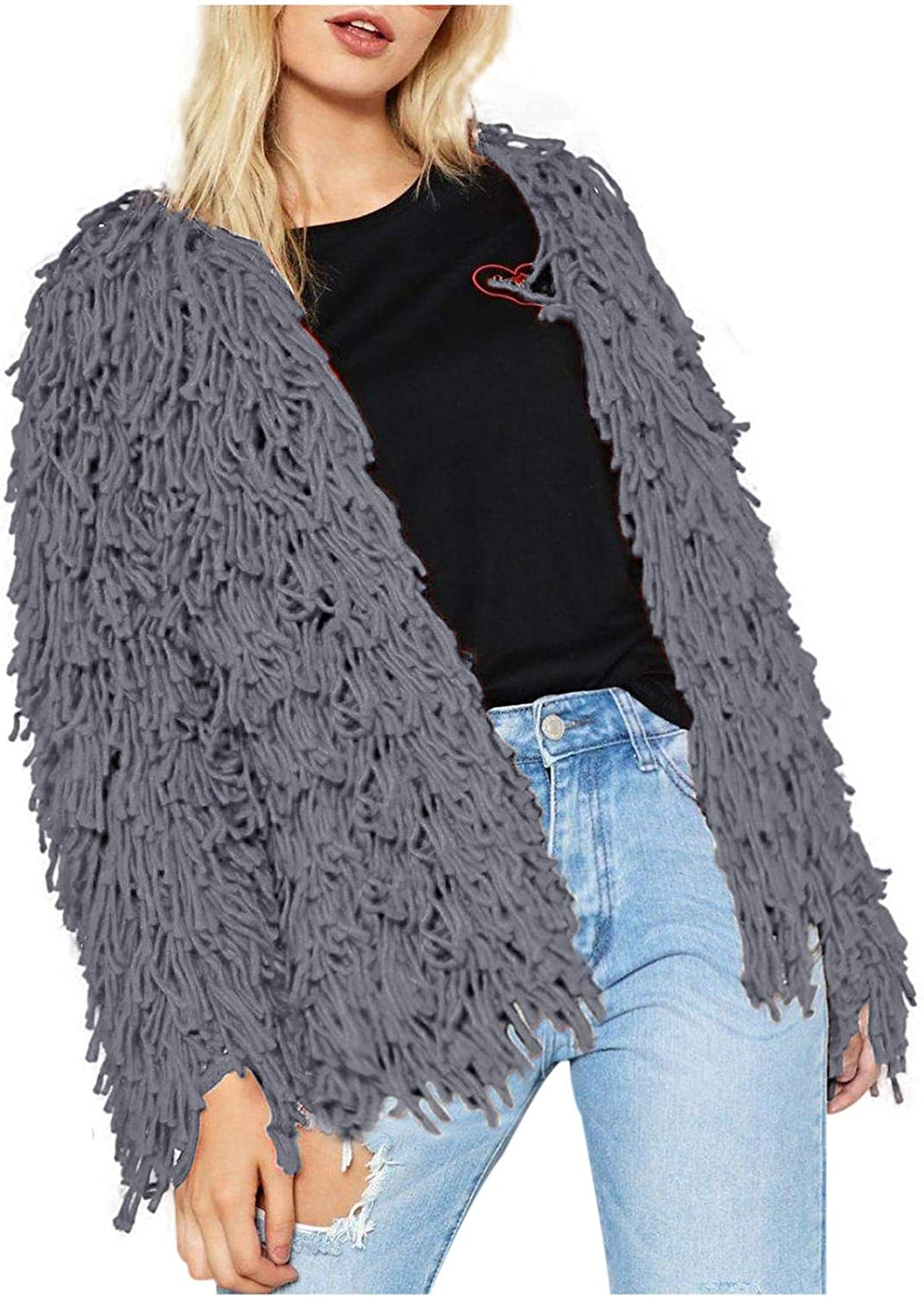 Evangelia.YM Womens San Jose Mall Cardigan Sweater Jacket Butto Coat Invisible Long Beach Mall