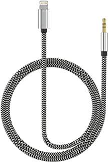 Aux Cable for iPhone 3.5mm Aux Cable Car AUX Cable to 3.5mm Aux Adapter Compatible with iPhone Xs/XS Max/X/8/8Plus/7/7Plus to Car Stereo/Speaker/Headphone Adapter Support iOS 12 or Later