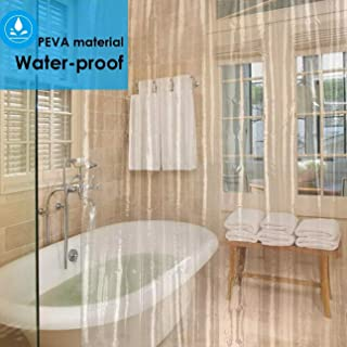"""ORSHIS Clear Shower Curtain Liner 180 x 180 cm (""""71x71"""") Eco-Friendly, 8G PEVA Mildew Resistant Anti-Bacterial Non Toxic, No Chemical Odor, 4 Magnets, Rust Proof & 100% Water Proof for Shower & Tabs"""