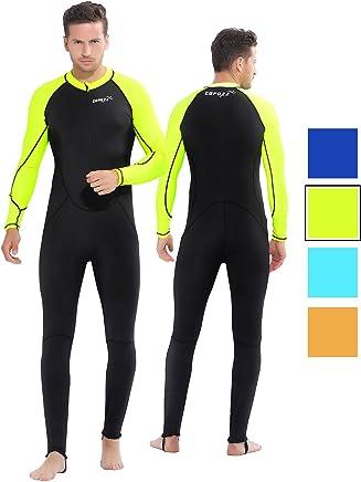 Surfing Diving MA87 Herren Neoprenanzug Neopren-Langarm-Tauchanzug Badeanzug Einteiler