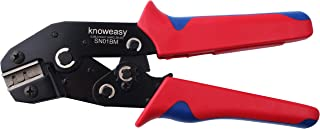 JST Pin Crimp Tool,Knoweasy Pin Crimper for Dupont D-Sub Terminals AWG 28-20/0.08-0. 5mm²