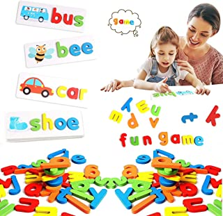 Seeing and spelling words learning toys, matching letter spelling games, sight games, English alphabet early education cog...