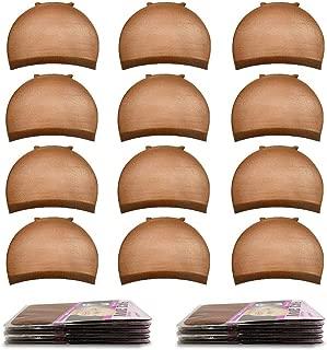 Nylon Wig Caps,MORGLES 20pcs Stocking Caps For Wigs Stretchy Wig Caps Brown Wig Caps For Women