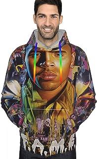 Chris Brown F.A.M.E. Men`s Hoodie Sweatshirt Jacket Novelty Hoodies Sweater Hooded Shirt