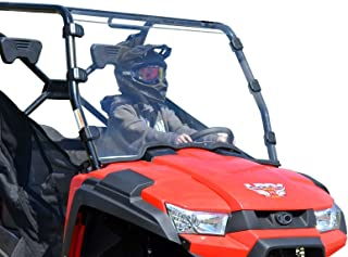 SuperATV Heavy Duty Scratch Resistant Full Windshield for Kymco UXV 450i (2015-2018) - Hard Coated for Extreme Durability and Long Life - Installs in 5 Minutes!