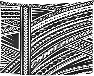 f207f04e45a55 Emvency Tapestry Blue Polynesian Maori Style Tribal Design Tattoo  Aboriginal Home Decor Wall Hanging for Living