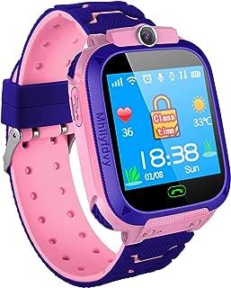 ZQTECH Smart Watch for Kids GPS Tracker - IP67 Waterproof Smartwatches with SOS Voice Chat Camera Math Game Alarm Clock Digital Wrist Watch Smartwatch Girls Boys Birthday Gifts (04 Blue)