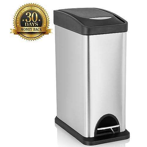 Bathroom Trash Cans With Lids Amazoncom