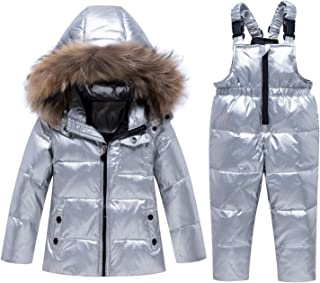 BREAORTION Toddler Baby Winter Warm Down Coats Girl Boys Hooded Thick Puffer Jacket Outerwear Clothes
