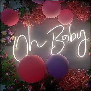 Néon signe Oh bébé pour les décorations de douche de bébé, décor de mariage, toile de fond, accessoire photo, Genre révèle...
