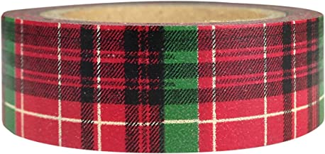 AllyDrew Plaid Pattern Japanese Washi Masking Tape - Christmas Plaid