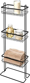 iDesign Everett Metal Standing Shower Caddy, 3-Tier Bath Shelf Baskets for Towels, Soap, Shampoo, Lotion, Accessories, 12....