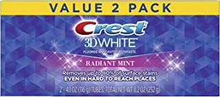 Crest 3D Whitening Toothpaste Radiant Mint, 2 Count