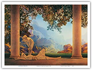 Daybreak - Vintage Art Nouveau Poster by Maxfield Parrish c.1922 - Master Art Print - 9in x 12in