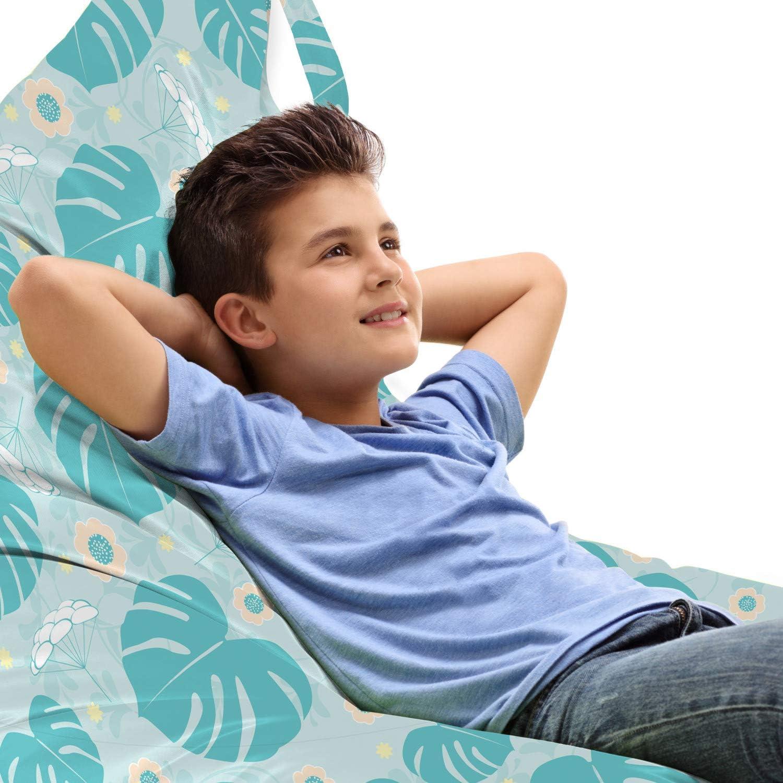 Ambesonne Exotic Popular popular Lounger Chair 55% OFF Bag Leaves Pastel Monstera Tropi