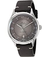 Mido - Multifort Patrimony Stainless Steel Case and Black Leather Strap - M0404071606000