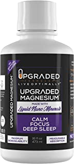 Upgraded Vegan Keto Magnesium | Liquid Nano Minerals Superior Absorption Supplement | Natural Gluten Free Deep Sleep Adrenal Fatigue Melatonin Stress Support | Muscle Soreness Relief | 16 oz