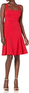 Women's Sleeveless Square Dress with Flounce Hem