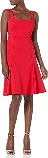 Calvin Klein Women's Sleeveless Square Dress with Flounce Hem